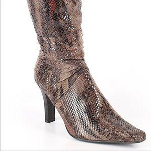 Faux Snake Print Boot